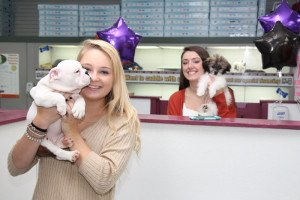 Happy Puppies and Staff